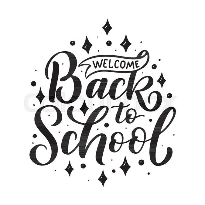 Welcome back to school logo