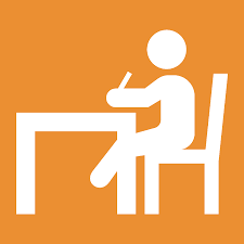 Student at desk image