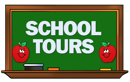 School chalkboard that says School Tours
