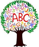 Tree with ABC written in the middle
